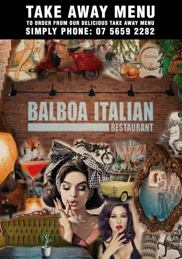 balboa italian take away menu